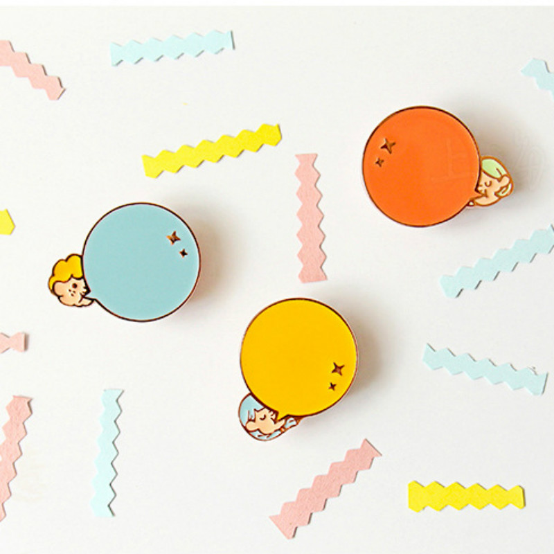 Candy-OU Wedding Brooch Colorful Painting Oil Umbrella//Car//Flower//Hat Shape Rhinestone Chain Double Brooch Accessories Gift for Women