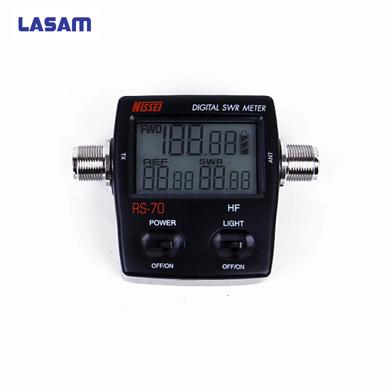 LASAM RS-70 Digitale SWR / Power Meter Tweeweg Radio HF 1.6-60 MHz 200 W M Type Connector SWR Power Meter voor Walkie Talkie RS70