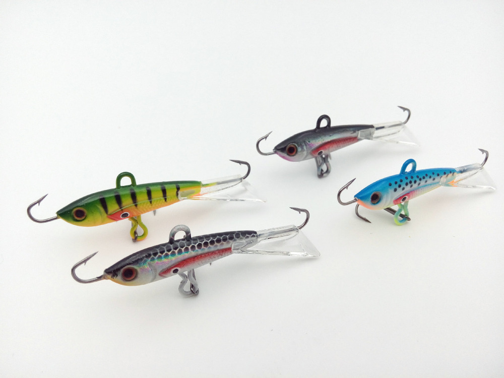 4 pcs winter fishing lure ice fishing jig bait 6cm for Ice fishing bait