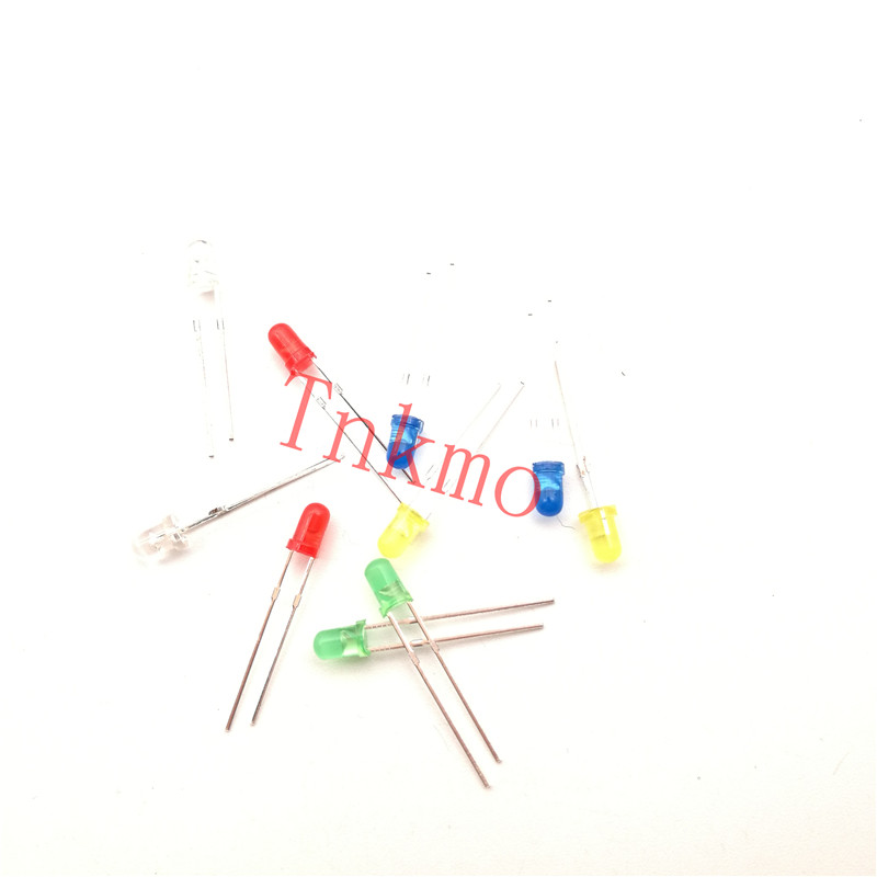 100pcs Red light-emitting diodes Red turn Red 3mm led yellow green blue white