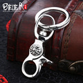 Beier nova loja 100% 925 thai prata esterlina fivela chave pingente de colar de homens/mulheres de jóias livre dar corda br925a006