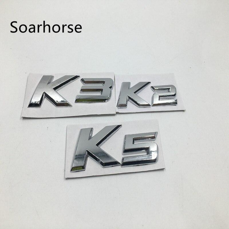 Soarhorse For KIA Rio FORTE CERATO Accessories K2 K3 K5 Trunk Lid Emblem Badge Number Letter Stickers custom fit car trunk mat for kia sorento sportage k5 forte rio k2 cerato k3 soul carens 3d carstyling carpet cargo liner