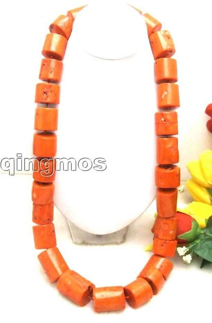 "Beautiful! Big 20-30mm GENUINE NATURAL graduate Thick Slice Pink Coral Long 35"" Necklace-5595 wholesale/retail Free shipping"