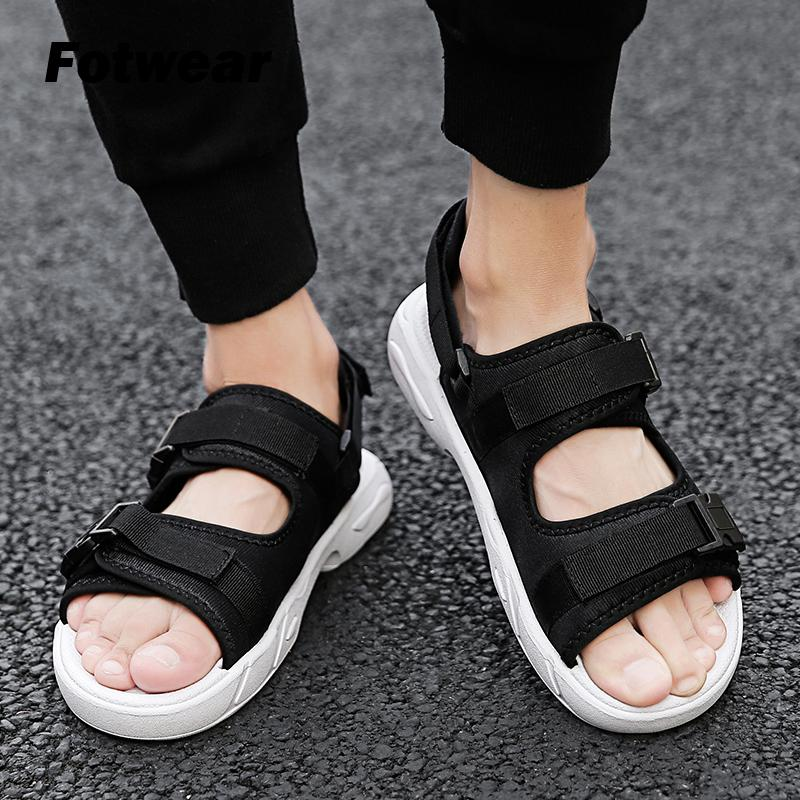 Men sandalias homem Teenager Summer Casual Shoes Gladiator Sandals Open Toe Platform Outdoor Beach Sandal Lightweight Fashion(China)