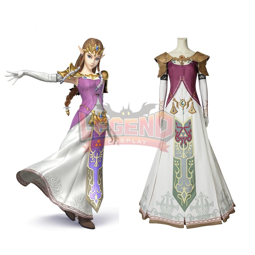 Cosplaylegend Game The Legend of Zelda Twilight Princess Zelda Cosplay adult costume Custom Made full set All size
