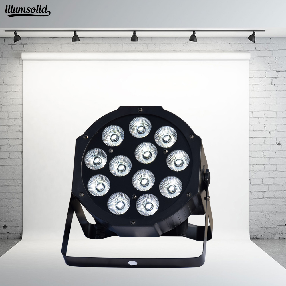 Illumsolid Aluminum 12x12W RGBW LED Par Can Par  Spotlight Dj Stage Lighting