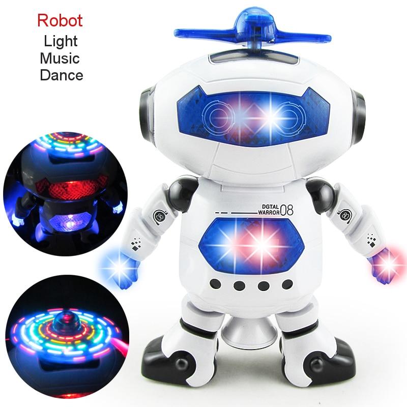 RC Robot Remot Control Electronic Robot Pet Walking Dancing Lightning Musical Toys For Children Kids Boy girl  Gift