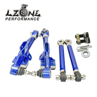LZONE FRONT LOWER CONTROL ARM For NISSAN S13 Adj. Front Lower Control Arm Blue Color JR9831B
