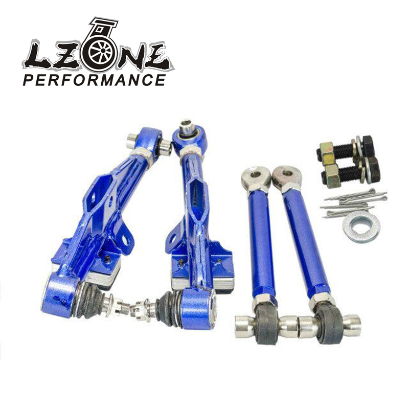 LZONE RACING - FRONT LOWER CONTROL ARM For NISSAN S13 Adj. Front Lower Control Arm - Blue Color JR9831B vr racing racing s14 adj front lower control arm blue only pair for nissan vr9832