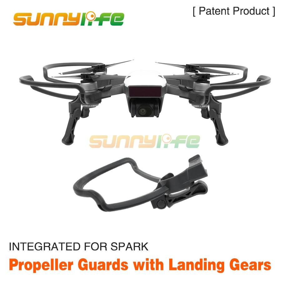 Sunnylife Hélice Gardes + Pliable Trains D'atterrissage De Protection Kit pour DJI ÉTINCELLE Caméra Drone Accessoires