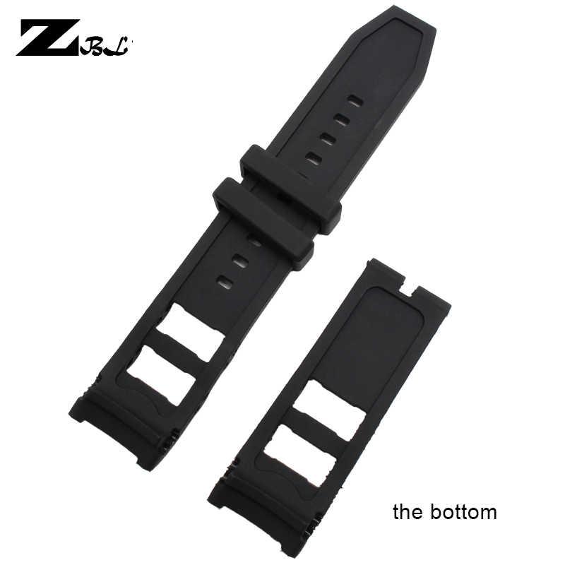 Correa de reloj de goma de silicona 26*24mm para pulsera invicta hombres pulsera de reloj impermeable correa de reloj de medida