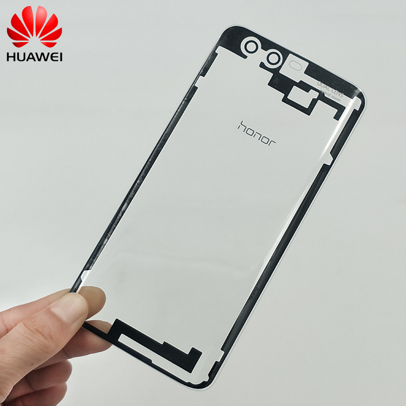 Huawei Honor 9 Transparent Battery Cover Back Housing Rear Door Case Replacement Repair Part With Adhesive Stickers And Logo