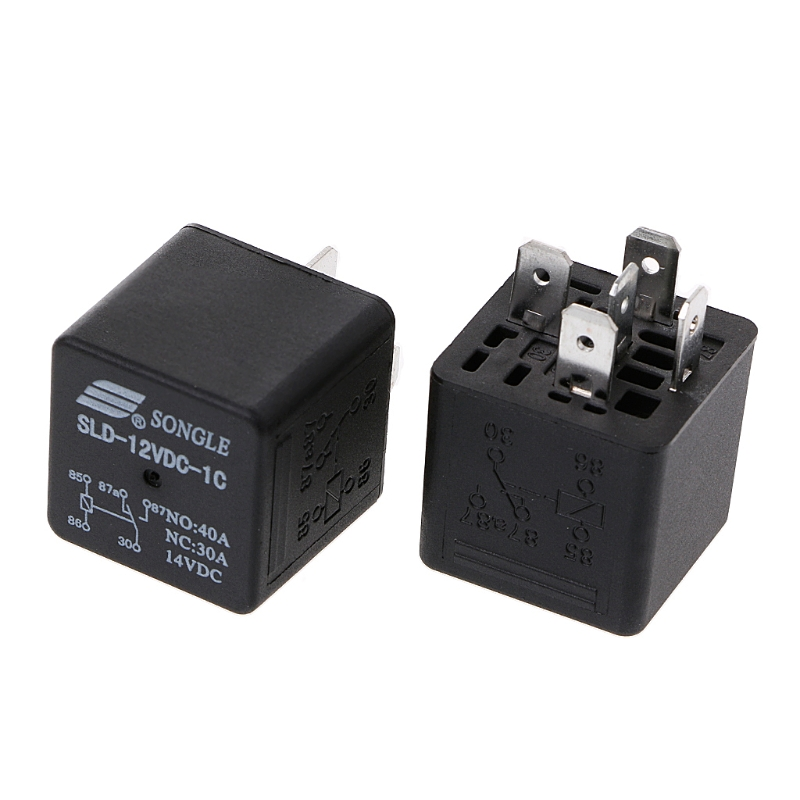 2PCS New SLD-24VDC-1A relay set of normally open 4 pin 40A14VDC without backrest