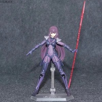15cm Fate/Grand Order Figma 381 Scathach Lancer Movable Ver Model Changeable Anime Action Figure FGO Collectible Doll Brinquedos