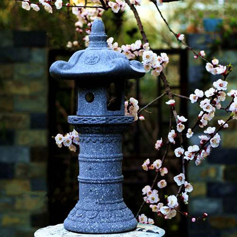 Japon Style Vintage Figurines et ornements miniatures jardin paysage cour lampe titulaire bougeoir Imitation pierre artisanat
