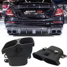 1Pair Exhaust Pipe Muffler end tips 304 Stainless tail Pipe For Mercedes Benz C/E/S/GLE/GLS Class Brabus exhaust tips