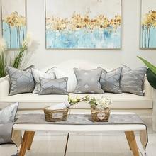 Grey  Geometry pattern Cushion cover senior grey pillowcases High Procession Pillow covers Sofa 45x45cm cushion