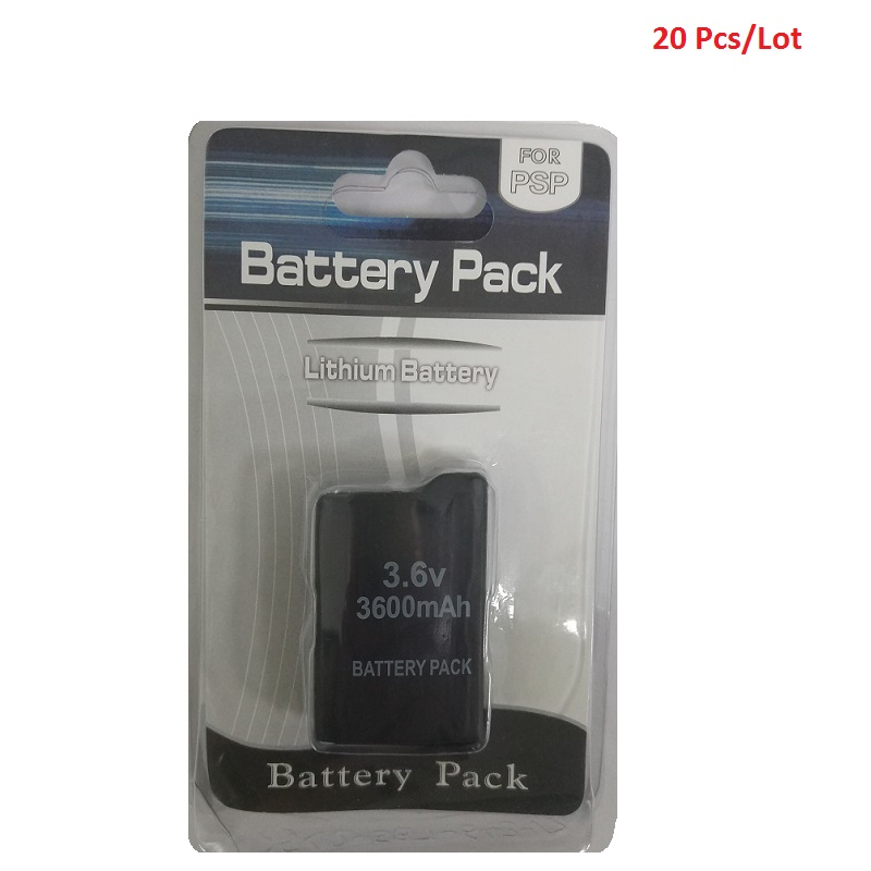 20Pcs/Lot  Battery For Sony PSP 1000 PlayStation Portable PSP1000 3600mAh 3.6V Li-Ion Lithium Rechargeable Batteries Wholesale