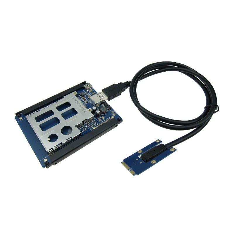 mini pci e port to pci express card adapter slot 54mm plug port