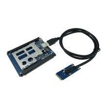 Mini Pci-e порт для PCI Express Card адаптер слот 54 мм разъем порт для настольного компьютера расширения PCI express карты