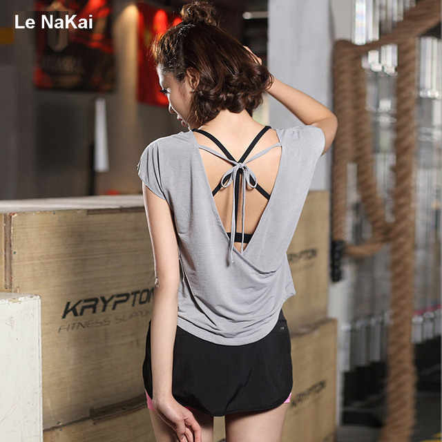 Sexy open back shirts