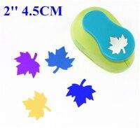 Free Shipping 2 Inch 4 5cm Maple Leaf Design Paper Punch Scrapbooking Punches Troqueladora De Papel