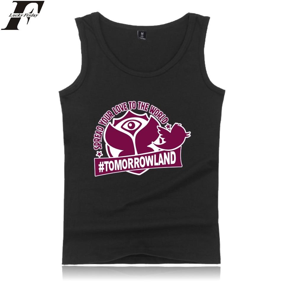Luckyfridayf Tomorrowland Tank Top Workout Tanktops Männer Sommer Sleeveless Tank Top Männer Bodybuilding O-ansatz Printed Beiläufige Weste Kunden Zuerst