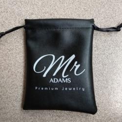 Hoge kwaliteit 8*12 cm koord PU lederen sieraden tas groothandel custom gift pouch voor sieraden geschenkverpakkingen en opslag