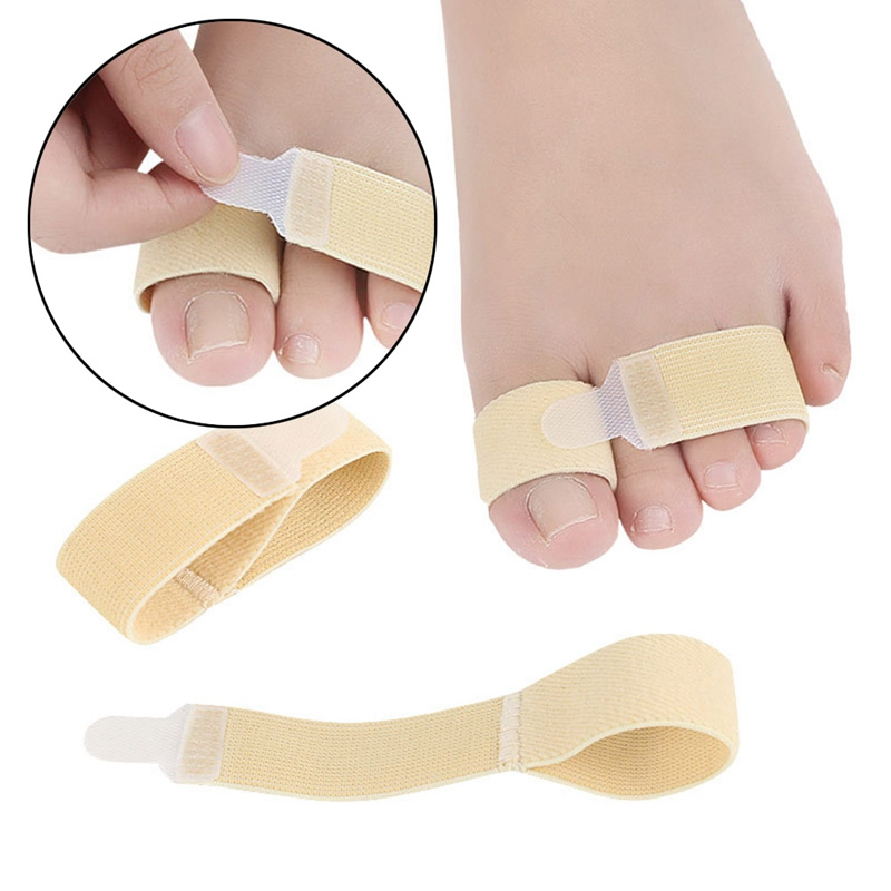 One Piece Toe Finger Straightener Hammer Toe Hallux Valgus Corrector Bandage Toe Separator Splint Wraps Foot Care Supplies