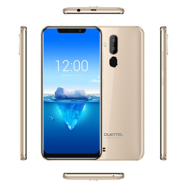 Oukitel C12 Pro Face ID 6.18Inch 19:9 U-notch Display Android 8.1 2GB RAM 16GB ROM MT6739 3300mAh Battery 8MP+5MP 4G Smartphone 4