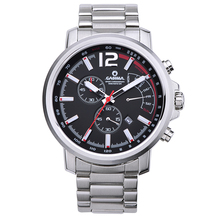 Fashion men's watch stainless steel quartz-watch outdoor sports chronograph stop watch waterproof 100m men clock CASIMA #8305