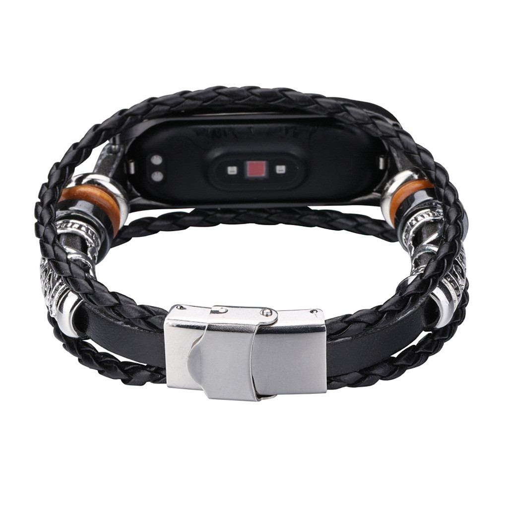 2020 For Xiaomi Mi Band 4 Replacement Leather Beading Bracelet Strap Weave Braided 2020 For Xiaomi Mi Band 4 Replacement Leather Beading Bracelet Strap Weave Braided фитнес браслет смарт браслет#G20