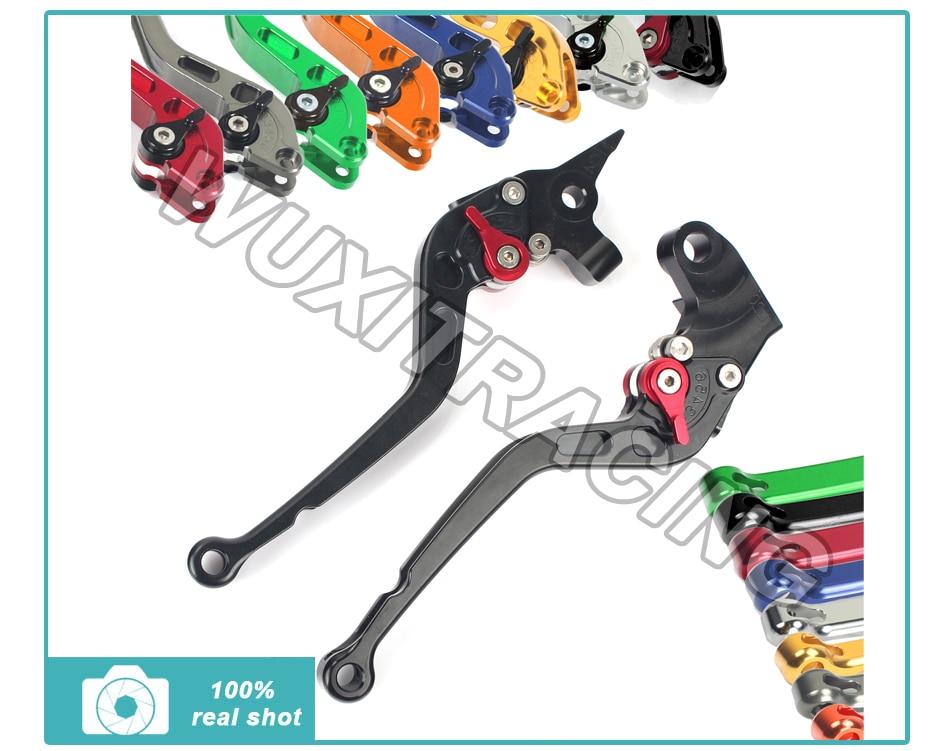 ФОТО Long Straight New CNC Adjustable Brake Clutch Levers for Yamaha XT 660 R / X 04 05 06 07 08 09 10 11 12 13 14
