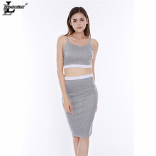 Lei SAGLY Fashion Women Strapless Knee-length Dress Spring Slim Fleece Sleeveless Pencil