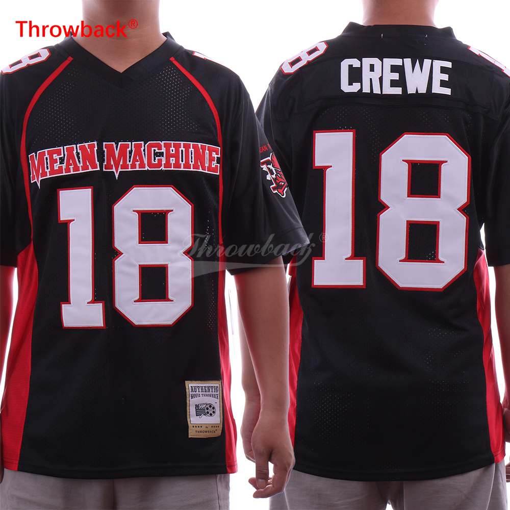 Mean Machine Paul Crewe #18 American Football Jersey The Longest Yard Movie S-3XL