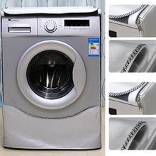 Чехол для стиральной машины, водонепроницаемый чехол, домашний солнцезащитный крем, сушилка для белья, полиэстер, серебряное покрытие, роликовые пылезащитные чехлы
