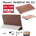 For  Huawei dtab d-01G holster MediaPad M1 8 inch special ultra-thin tablet protective shell Folio stand leather PU cover case
