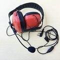 Bekeenon Red color fashion noise canceling big headphone K plug 2pins mic for Kenwood,linton,baofeng ,puxing etc walkie talkie