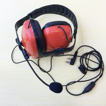 Bekeenon Red color fashion noise canceling big headphone K plug 2pins mic for Kenwood,linton,baofeng ,puxing etc walkie talkie
