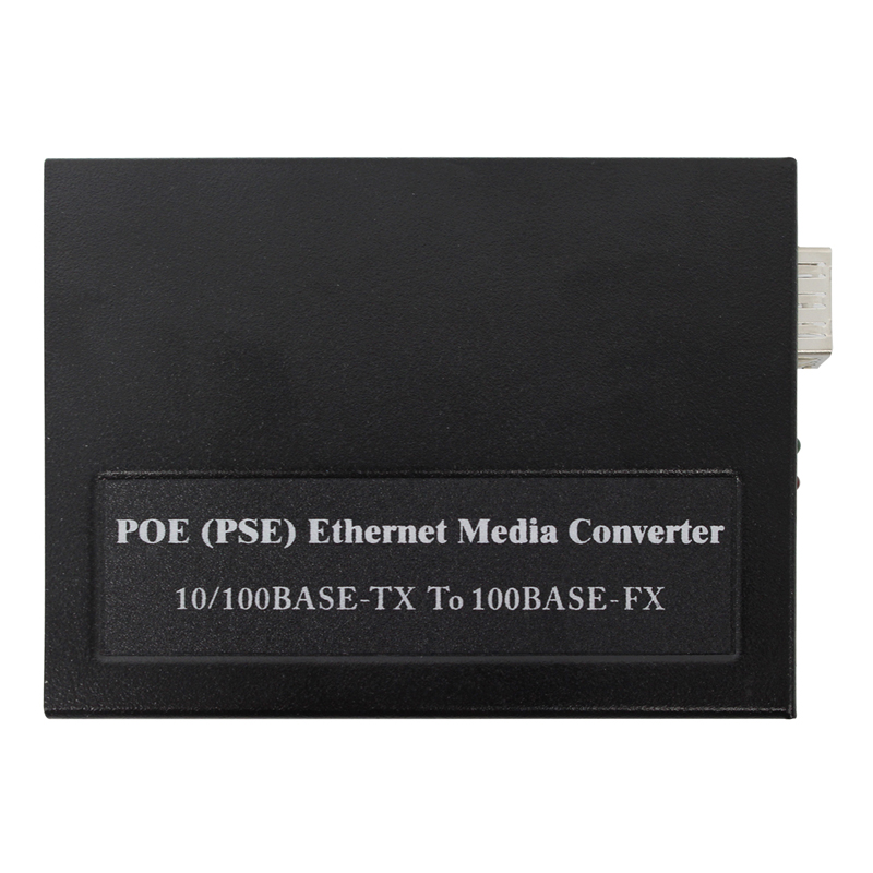 POE (PSE) Ethernet Media Converter 10/100Base-TX To 100Base-FX