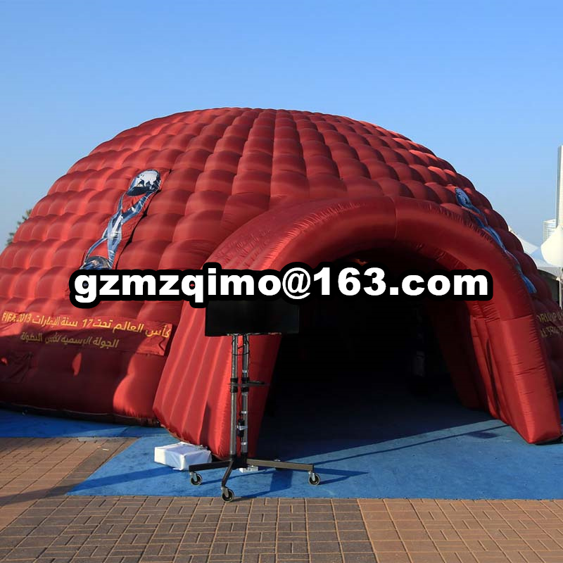 2018 World Cup inflatable football sports helmet tunnel tent 10x10x5mH oxford cloth giant inflatable dome tent in Toy Tents from Toys Hobbies
