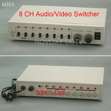 Free Shipping 8 In 1 Out Composite BNC Video Audio Switcher For CCTV Security System