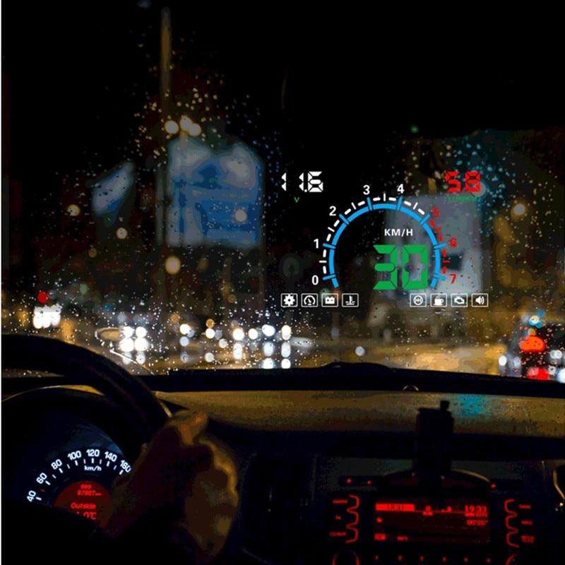 Image 5 - Geyiren HUD E350 5,5 'HUD Автомобильный дисплей Авто OBD2 скоростной сигнал светодиодный лобовое стекло проектор данные автомобильные инструменты для диагностики электроники 2019-in Проекционный дисплей from Автомобили и мотоциклы