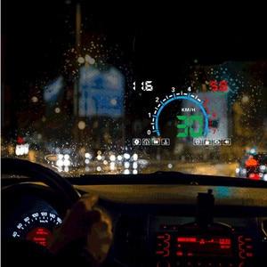Image 4 - WiiYii HUD E350 car Head Up display Auto speed alarm OBD2 Windscreen Projector car electronics Data Diagnostic Tool