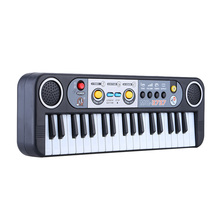 37 Keys Multifunctional Mini Electronic Keyboard Piano Music Toy with Microphone Educational Electone Gift for Children Babies(China)