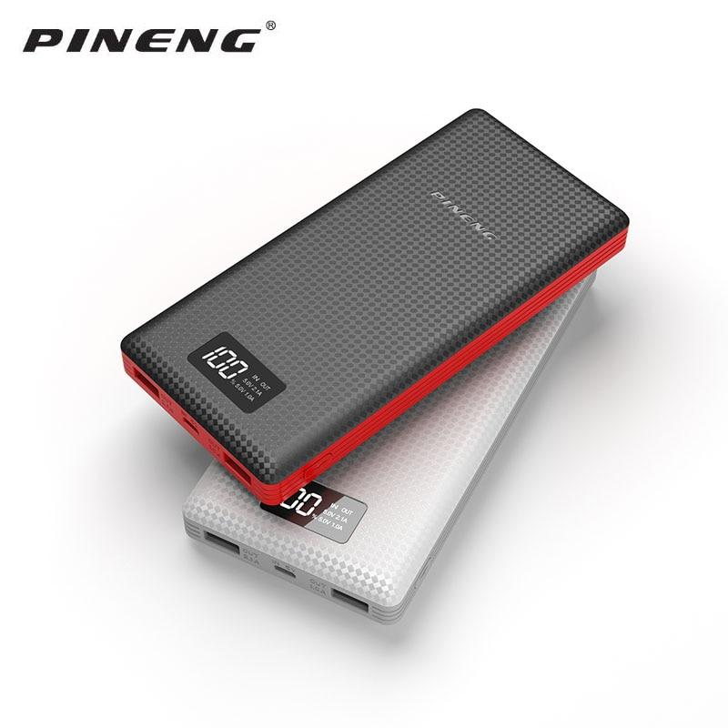 Original Pineng 20000 mAh Banco de Potência PN-969 5 V 2.1A Saída Dual USB Powerbank Bateria Externa para Celulares Com Android comprimidos