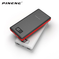 Original Pineng Power Bank 20000mAh PN 969 External Battery Pack Powerbank 5V 2.1A Dual USB Output for Android Phones Tablets