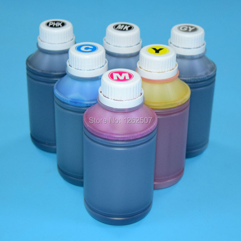 For hp 72 130ml empty refillable ink cartridge + 500ml dye ink for HP T610 T620 T770 T790 T1100 T1200 T1300 T2300 printer refillable color ink jet cartridge for brother printers dcp j125 mfc j265w 100ml