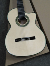Full Solid Handmade 39 Electric Acoustic Flamenco guitar With Spruce/Solid Aguadze Body,Classical Pickup