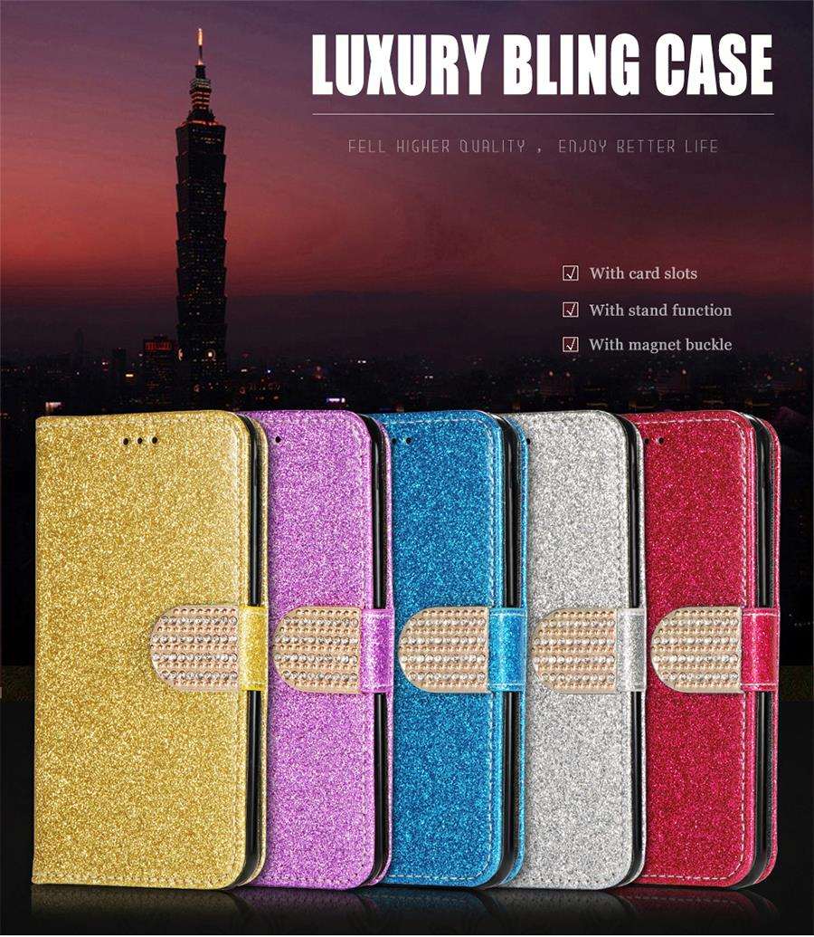 Luxury Glitter Case For Google Pixel/Pixel XL Flip Phone Cases Wallet Leather Cover Holder Stand Mobile Phone Bag Card Slots